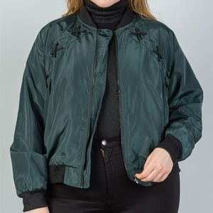 Jackets & Blazers - Plus criss-cross sides bomber jacket
